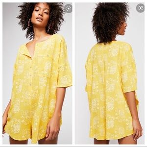 Free People Wear Me Daily Yellow Romper